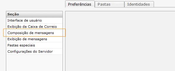 Webmail - RoundCube - Mensagens