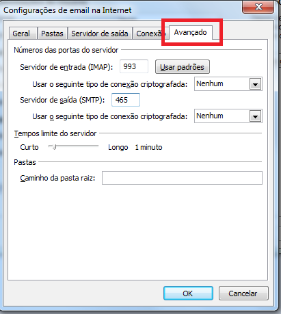 Erro Outlook 0x800CCC80