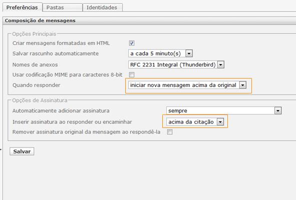 Webmail - RoundCube - Responder
